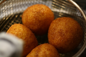 Arancine with meat